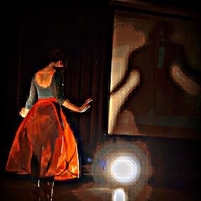 Dancing Light by Vanessa Latrimurti - Digital Art People ( contrast, dancing, bold, bright, shadow, post edit, ballerina, light, manipulation, dancer )
