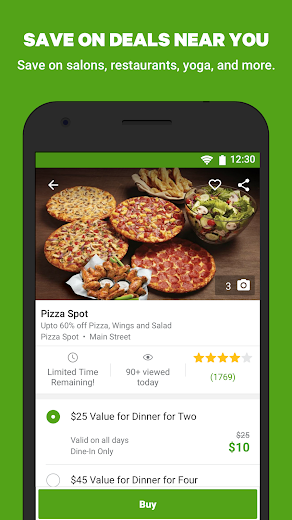 Screenshot 1 for Groupon's Android app'