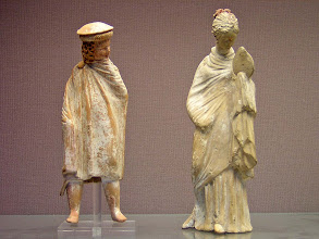 Photo: Terracotta statues with Macedonian boy