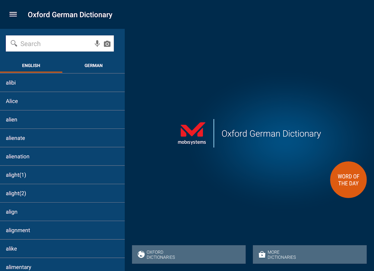 Oxford German Dictionary- screenshot