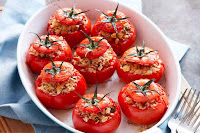 Chicken Tikka Stuffed Tomatoes
