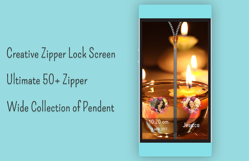 Candle Zipper Lock Screen  screenshots 4