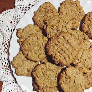 Coconut Oatmeal Peanut Butter Cookies.