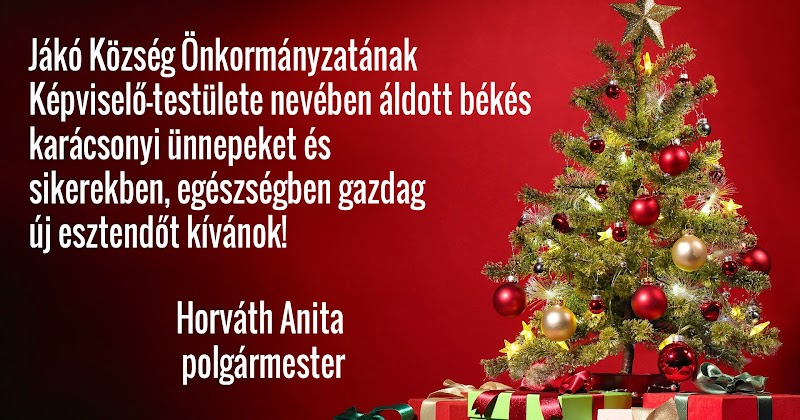 Áldott békés karácsonyi ünnepeket és boldog új évet 2020