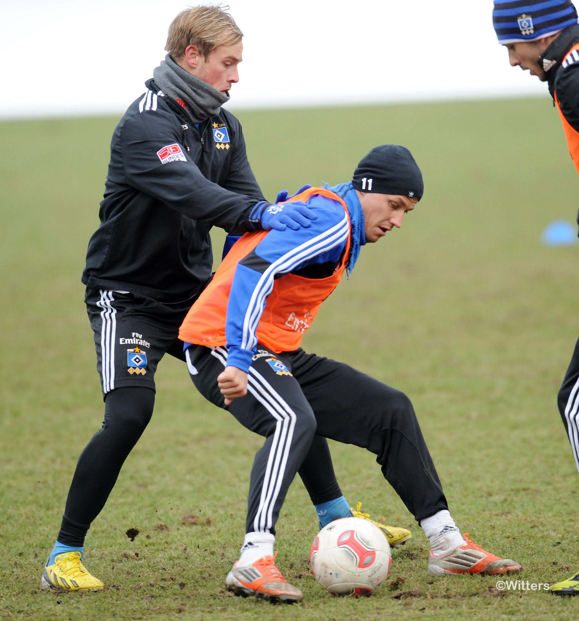 Photo: v.l. Maximilian Beister, Ivo IlicevicFussball, Hamburger SV, Training