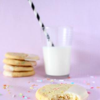 Funfetti Cookies with a Vanilla Cream Glaze