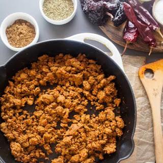 Homemade Turkey Chorizo.