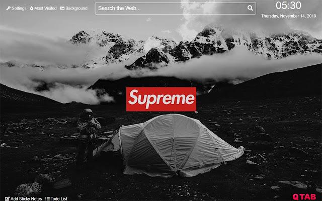 Supreme Wallpapers Supreme New Tab HD