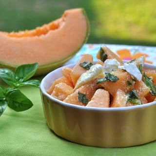 Cantaloupe Salad with Feta & Basil