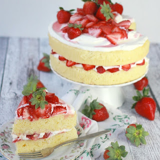 Strawberry Lemon Cream Cake