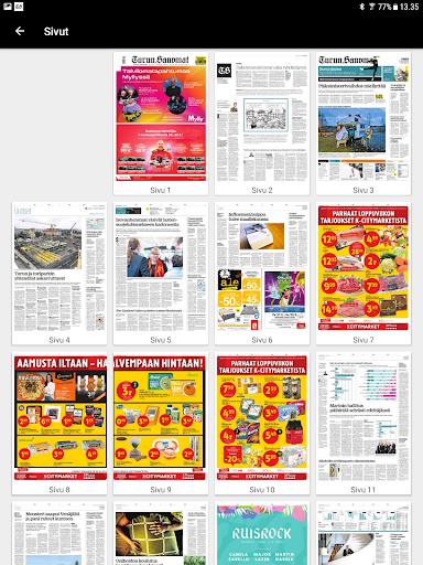 Turun Sanomat näköislehti screenshot 13