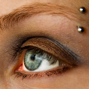 by Amy Spurgeon - People Body Art/Tattoos ( piercing, eye )