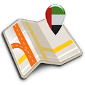 Map of UAE offline icon