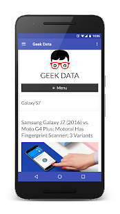 Geek Data- screenshot thumbnail