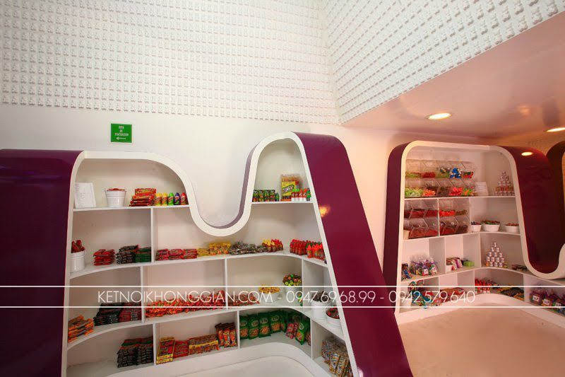thiết kế shop kẹo candy stop 5