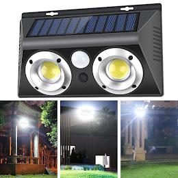 Lampa solara 20W Dual COB LED IP65