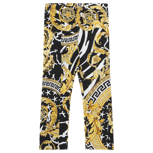 Primary image of Young Versace Baroque Print Leggings