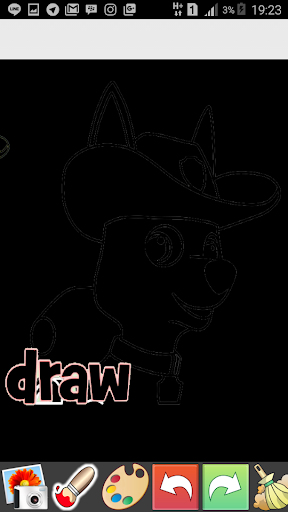 Draw Glow Paw Patrol 1.0 screenshots 1