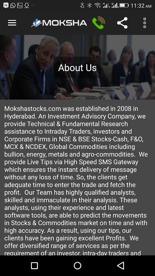 Moksha Stocks- screenshot