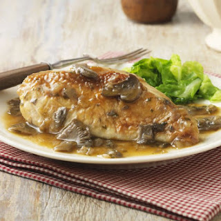 Lazy Crock Pot Chicken With Mushrooms.