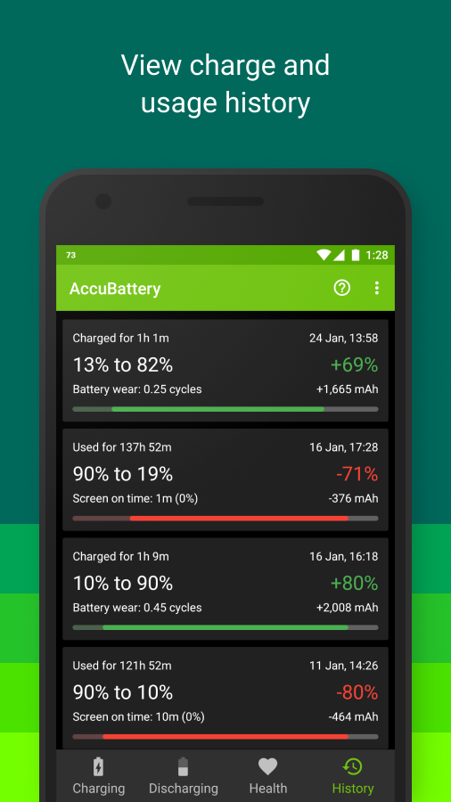 Accu​Battery- screenshot