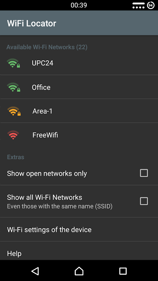 WiFi Locator- screenshot