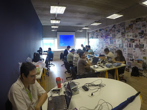 Photo: Picture taken from one of the students connecting a GoPro camera to the Wandboard on the +Embedded Labworks embedded Android training session! +Android