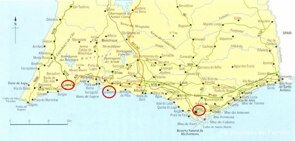 Carte Algarve