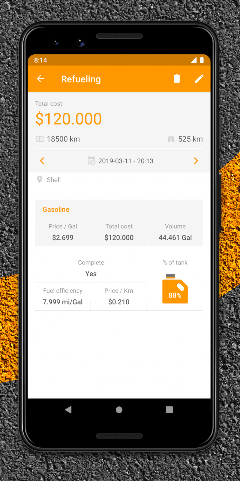 Drivvo – Car management, Fuel log, Find Cheap Gas Screenshot 6