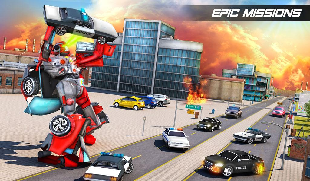 Futuristic Car Robot Rampage- screenshot
