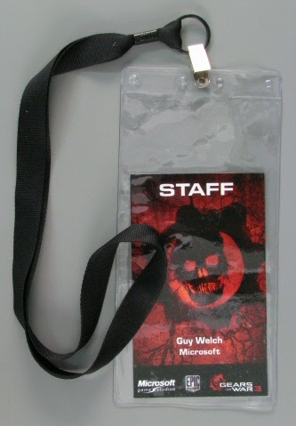 Badge:Gears of War 3 Staff Badge: Guy Welch