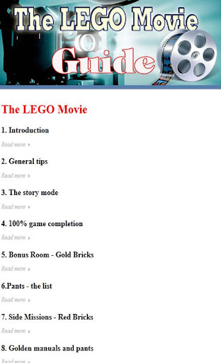 Guide for Lego Movie