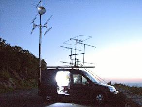 Photo: K8GP / Rover after dark - FM08US