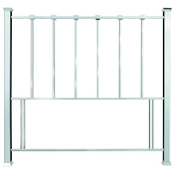 Metal Floor Standing headboard in Shiny Nickel Finish