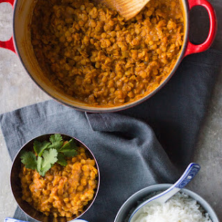 Easy Red Lentil Curry.