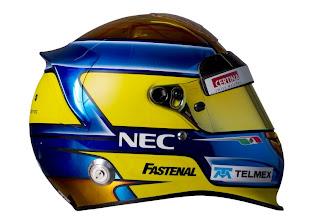 Photo: The helmet of Esteban Gutierrez (MEX), Sauber test and reserve driver.Formula One Testing, Day 3, Jerez, Spain, Thursday 9 February 2012.