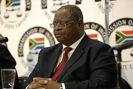 Judge Raymond Zondo presides at the commission of inquiry into state capture.
