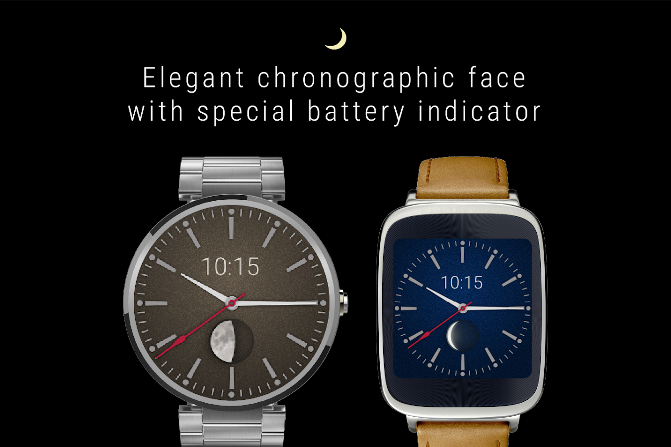 Facer android wear - Moon Watch Face Android Wear Screenshot