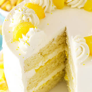 Lemon Mascarpone Layer Cake.