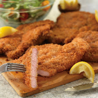 Crispy Pork Cutlets with Tuscan Salad.