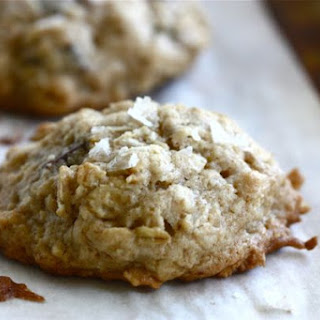 Salty Chocolate Chip Oatmeal Cookies.