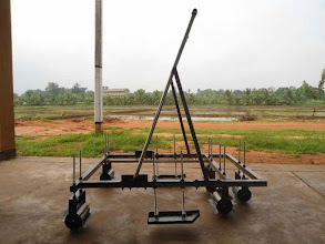 Photo: Combined Manual Marker and Weeder for SRI Method (Designed and Developed by Rajarata University of Sri Lanka)