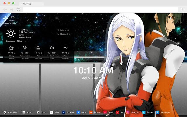 Mobile Suit Gundam Pop HD  New Tabs Theme