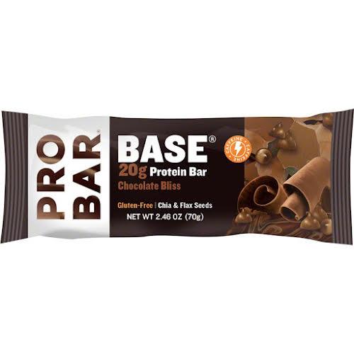 Probar Base Bar: Chocolate Bliss with Caffeine, Box of 12