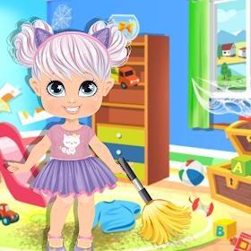 Грязный уборщик кукольного дома: игры по уборке