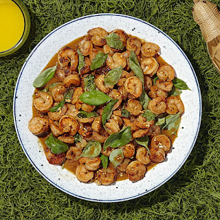 Coconut Teriyaki Shrimp with Basil Stir-fry