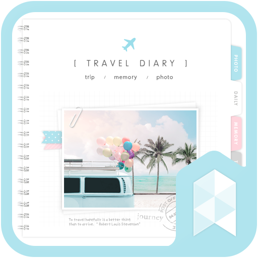 Emotion Travel diary Launcher theme