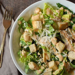 Caesar Salad with Chipotle Greek Yogurt Dressing