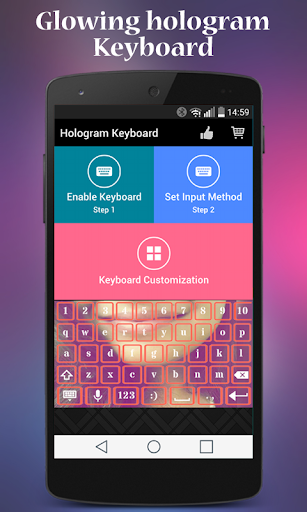 Hologram Glow Keyboard