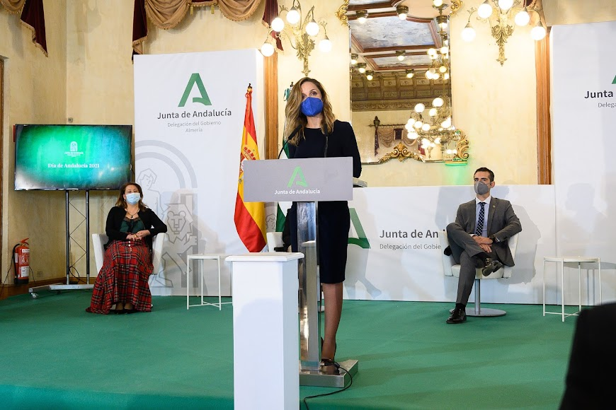 La delegada de Gobierno de la Junta de Andalucía, Maribel Sánchez, en el acto